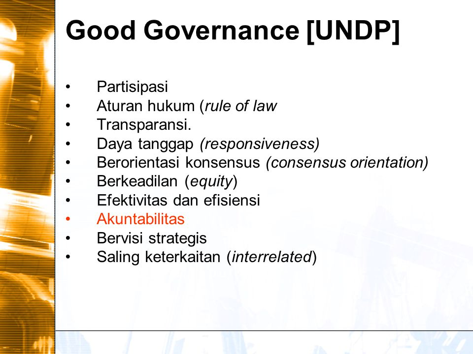 Good Governance [UNDP]